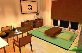 モダンなマンションのお部屋に、和の心を