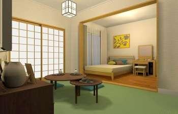 異なる木材を使用しても統一感がある和モダンのお部屋
