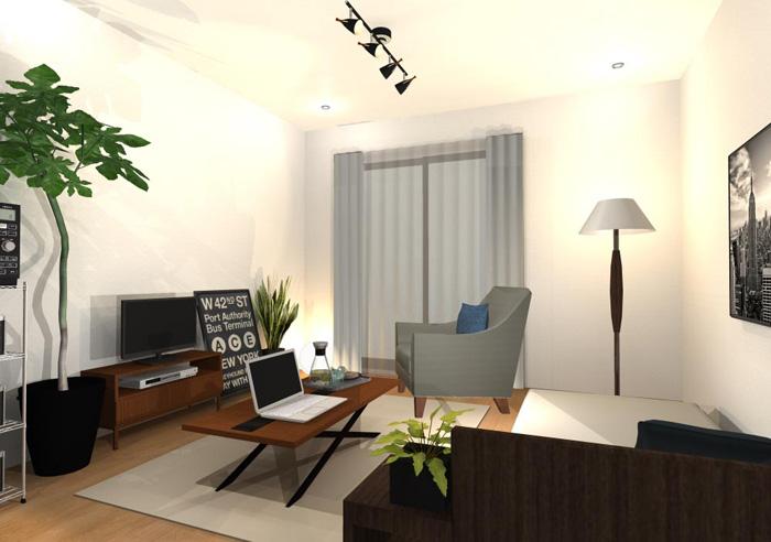 家具を減らしすぎないワンルームのインテリア